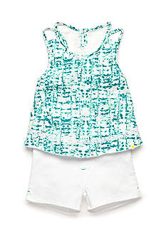 Lucky Brand 2-Piece Tie-Dye Lace Tank Top and Shorts Set Girls 4-6x