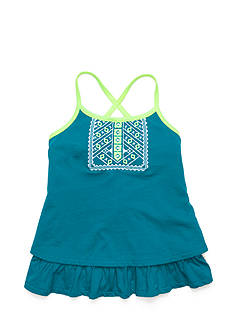 Lucky Brand Issadora Embroidered Tiered Tank Top Girls 7-16