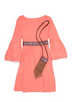 Red Camel Babydoll Dress With Purse Girls 7-16