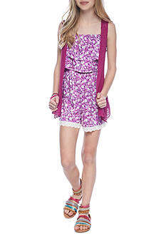 Red Camel® Floral Romper with Cozy 2Fer Girls 7-16