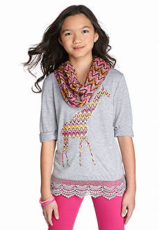 Red Camel® 2-Piece Giraffe Top and Scarf Set Girls 7-16