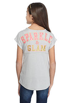Red Camel® 'Sparkle and Glam' Printed Sweeper Top Girls 7-16