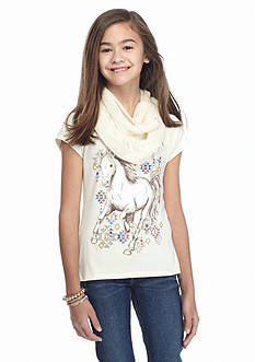 Red Camel® Printed Horse Top and Scarf Girls 7-16