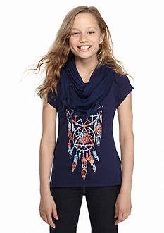 Red Camel® Printed Dream Catcher Top and Scarf Girls 7-16