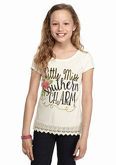 Red Camel® 'Southern Charm' Crochet High Low Top Girls 7-16