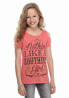 Red Camel® Cold Shoulder 'Southern Girl' High Low Top Girls 7-16