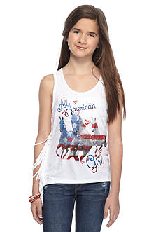 Red Camel® 'All American' Horse Fringe Tank Top Girls 7-16