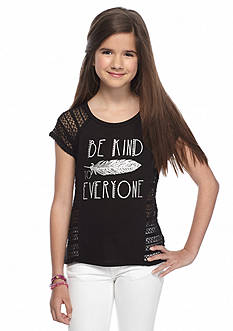 Red Camel® 'Be Kind To Everyone' Crochet Top Girls 7-16