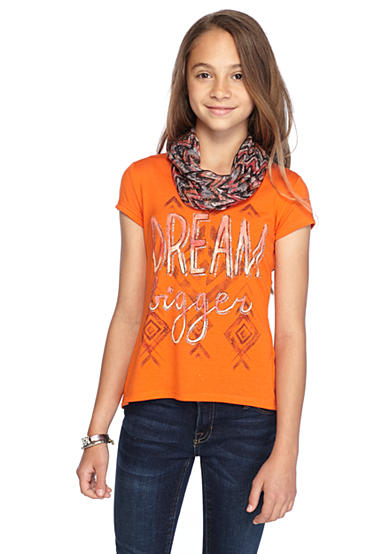 Red Camel® 2Fer 'Dream Bigger' Top and Scarf Girls 7-16