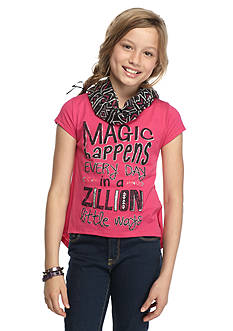 Red Camel 'Magic Happens' Printed High Low Top Girls 7-16