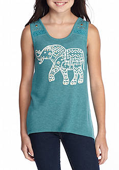 Red Camel Printed Elephant Tank Top Girls 7-16