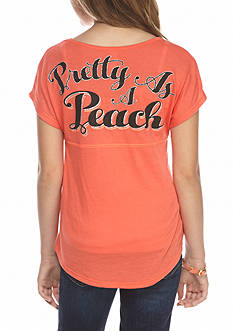 Red Camel® 'Pretty As A Peach' Sweeper Top Girls 7-16