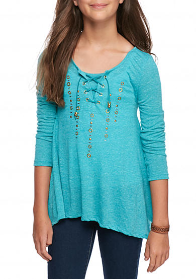 Red Camel® Lace Up Studded Top Girls 7-16