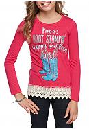Red Camel® Boot Stompin' Crochet Trim Tee