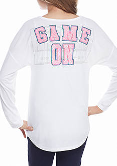 Red Camel® White 'Game On' Sweeper Top Girls 7-16
