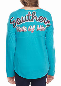 Red Camel® Turquoise 'Southern State of Mind' Sweeper Tee Girls 7-16