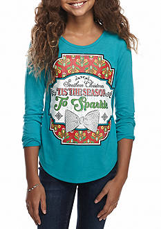 Red Camel® Tis The Season To Sparkle Top Girls 7-16