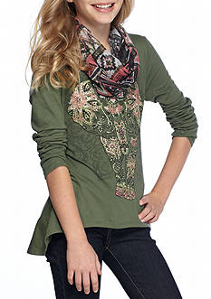 Red Camel® Elephant Graphic Top Girls 7-16