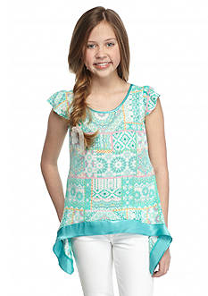Red Camel Printed Shark-bite Top Girls 7-16
