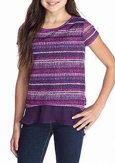 Red Camel® Printed Hacci Top Girls 7-16