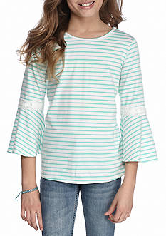 Red Camel® Bell Sleeve Stripe Top Girls 7-16