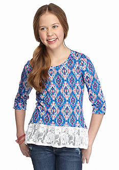 Red Camel® Printed High Low Hacci Top Girls 7-16