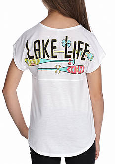 J. Khaki 'Lake Life' Sweeper Tee Girls 7-16