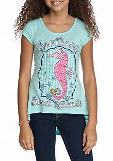 J. Khaki 'Southern Sweet Attitude' Seahorse Tee Girls 7-16