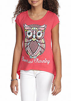 J. Khaki 'Sweet and Charming' Owl Tee Girls 7-16