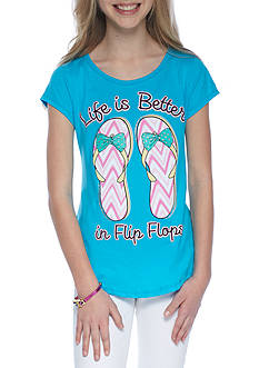 J. Khaki® Flip Flop Screen Tee Girls 7-16