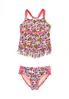 Jessica Simpson 2-Piece Floral Fringe Tankini Girls 7-16