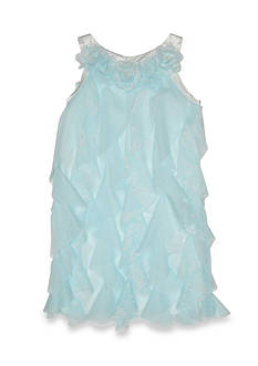 Biscotti Flower Netting Cascade Dress Girls 4-6x