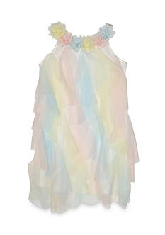 Biscotti Rainbow Cascade Dress Girls 4-6x