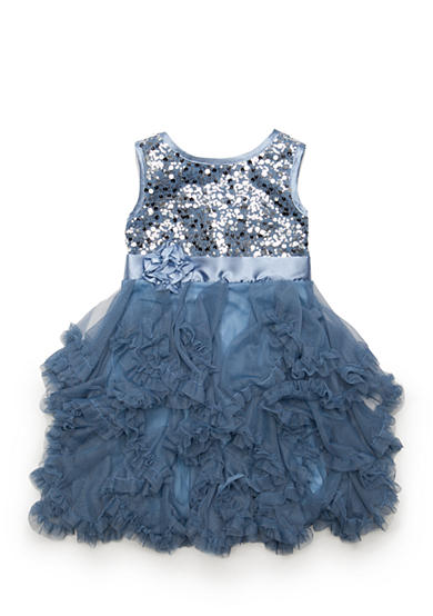 Biscotti Sequin Ruffle Tiered Dress Girls 4-6x