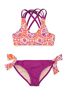 Roxy Girls™ 2-Piece Miles Away Tankini Set Girls 7-16