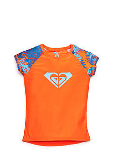 Roxy Girls™ Short Sleeve Primal Palms Rashguard Girls 7-16