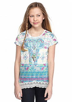 J Khaki™ Elephant Crochet Top Girls 7-16