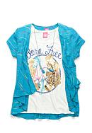 J. Khaki® Born Free Screen Tee Girls 7-16