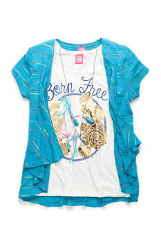 J Khaki™ Born Free Screen Tee Girls 7-16