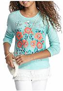 J. Khaki® Floral Top and Purse Girls 7-16