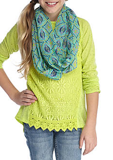 J. Khaki® Lace Front Scarf Top Girls 7-16