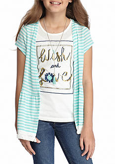 J. Khaki® 'Wish and Love' Screen Tee 3Fer Girls 7-16
