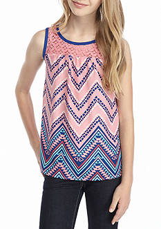 J. Khaki® Chevron Tank Girls 7-16