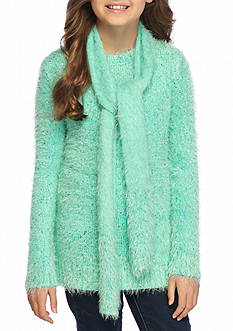 J. Khaki® Eyelash Sweater With Scarf Girls 7-16