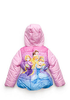 Disney Princess Puffer Coat Girls 4-6x