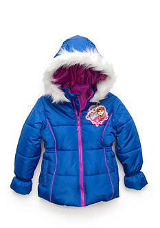 Disney Frozen Puffer Jacket Girls 4-6x