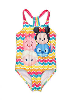 Disney® Tsum Tsum 1-Piece Swimsuit Girls 4-6x