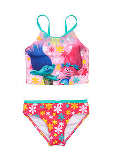 DreamWorks Trolls 2-Piece Tankini Swimsuit Set Girls 4-6x