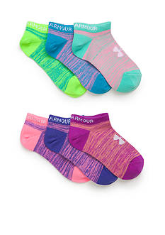 Under Armour® 6-Pair Pack Essential No Show Socks Girls 4-16