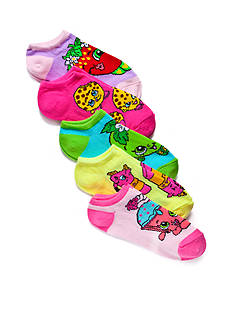 High Point Design Printed No Show Socks 5-Pack Girls